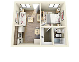 Verrano Park 1 Bed Floor Plan