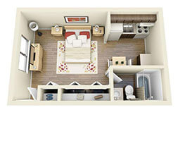 Verrano Park Studio Floor Plan